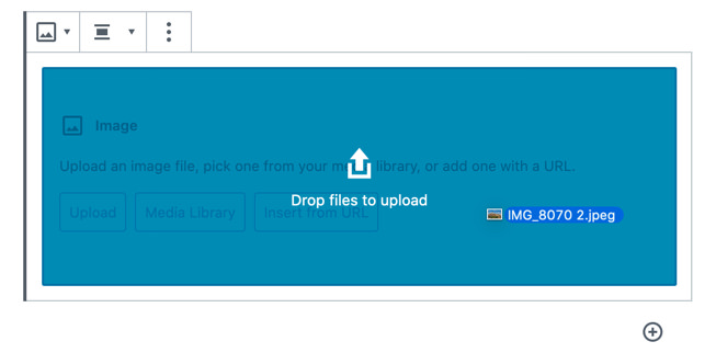 Easy upload in WordPress 5.4